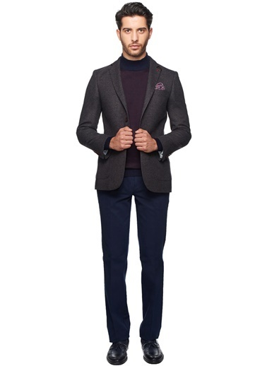 Slim Fit Yün Blazer Ceket-Altınyıldız Classics